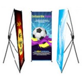 "24"" x 60"" Outdoor / Indoor Banners 13 oz Scrim Vinyl Matte Collapsible Stand"