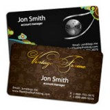 "2"" x 3.5"" Silk Laminated Foiled Rounded Corners Business Cards - Extra Heavy Card Stock with Spot UV on Both Sides"