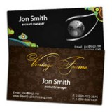 "2"" x 3.5"" Silk Laminated Foiled Business Cards - Extra Heavy Card Stock with Spot UV on One Side"