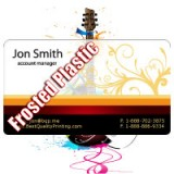 "2"" x 3.5"" Plastic Business Cards with Round Corners 20PT Frosted Plastic"