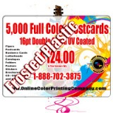"4.25"" x 6"" Plastic Postcards with Round Corners 20PT Frosted Plastic"