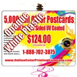 "4.25"" x 6"" Plastic Postcards with Round Corners 20PT Opaque White Plastic"