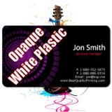 "2"" x 3.5"" Plastic Business Cards with Round Corners 20PT Opaque White Plastic"