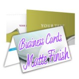 "4"" x 3.5"" Fold Over Business Cards 14PT Heavy Cardstock Matte/Dull Finish"