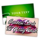 "2"" x 3.5"" Business Cards 14PT or 16PT Extra Heavy Cardstock UV Glossy Finish on Both Sides"