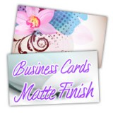 "1.75"" x 3.5"" Slim Business Cards 14PT or 16PT Extra Heavy Cardstock Matte/Dull Finish"