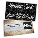 Business Cards 14PT or 16PT Extra Heavy Cardstock One Side Full UV, One Side Spot UV