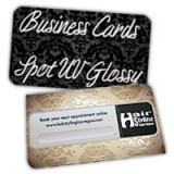 Round Corner Business Cards 14PT or 16PT Extra Heavy Cardstock One Side Full UV, One Side Spot UV