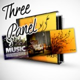 "4.75"" X 14.125"" Three Panel CD Cover Heavy Weight Paper Glossy Finish"