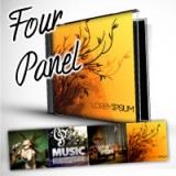 "4.75"" X 19"" Four Panel CD Cover Heavy Weight Paper Glossy Finish"