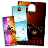 "3.5"" X 11"" Die Cut Door Hangers With Tear-Off Perforation 14PT or 16PT Extra Heavy Cardstock UV Glossy Finish"