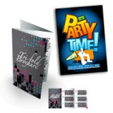 "8.5"" x 4"" Brochures / Flyers 100Lb Cover Cardstock Glossy Finish"