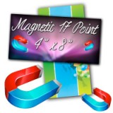 "4"" X 8"" 17PT Indoor Magnet Glossy Finish"