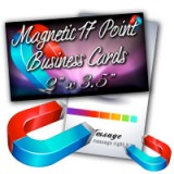 "2"" X 3.5"" 17PT Magnet Business Cards Glossy Finish"