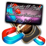 "2"" X 3.5"" Round Corner 17PT Magnet Business Cards Glossy Finish"