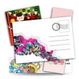 "2.5"" X 2.5"" Postcards 14PT or 16PT Extra Heavy Cardstock One Side Full UV, One Side Spot UV"