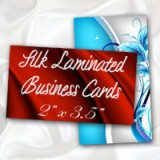 "2"" x 3.5"" Silk Laminated Business Cards - Extra Heavy Card Stock with Spot UV on One Side"