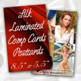 "8.5"" x 5.5"" Silk Laminated Postcards - Extra Heavy Card Stock with Spot UV on One Side"