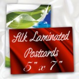 "5"" x 7"" Silk Laminated Postcards - Extra Heavy Card Stock with Spot UV on Both Sides"