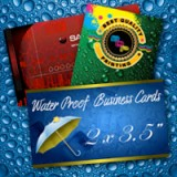"2"" x 3.5"" Water Proof Business Cards 10PT Heavy Weight Paper"