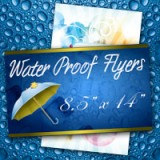 "8.5"" x 14"" Water Proof Flyers 10PT Heavy Weight Paper"