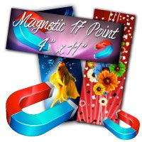 "4"" X 11"" 17PT Indoor Magnet Glossy Finish"