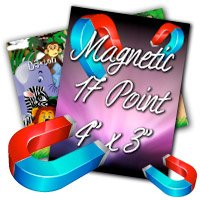 "4"" X 3"" 17PT Indoor Magnet Glossy Finish"