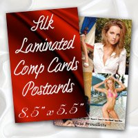 "8.5"" x 5.5"" Silk Laminated Postcards - Extra Heavy Card Stock with Spot UV on Both Sides"