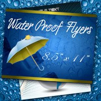 "8.5"" x 11"" Water Proof Flyers 10PT Heavy Weight Paper"