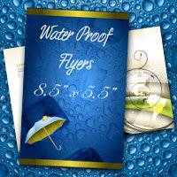 "8.5"" x 5.5"" Water Proof Flyers 10PT Heavy Weight Paper"